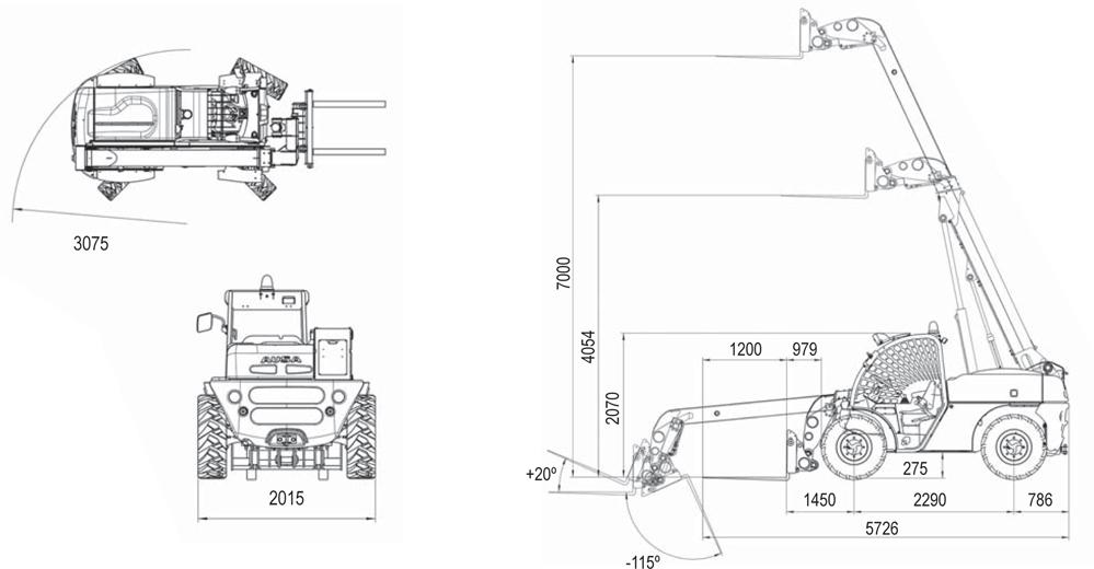 схема телескопичнского погрузчика